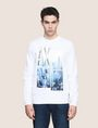 ARMANI EXCHANGE NYC PHOTOBLOCK SWEATSHIRT Fleece Top Man f