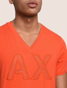 ARMANI EXCHANGE MESH LOGO V-NECK TEE Logo T-shirt Man b