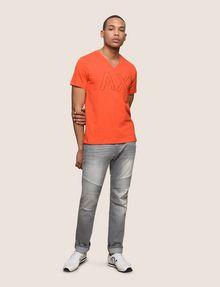 ARMANI EXCHANGE MESH LOGO V-NECK TEE Logo T-shirt Man d