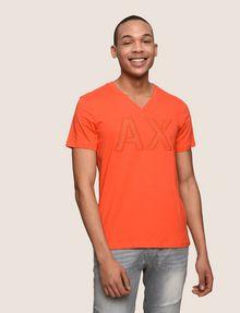 ARMANI EXCHANGE MESH LOGO V-NECK TEE Logo T-shirt Man f