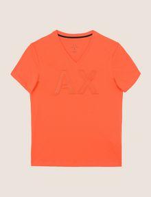 ARMANI EXCHANGE MESH LOGO V-NECK TEE Logo T-shirt Man r