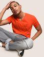 ARMANI EXCHANGE MESH LOGO V-NECK TEE Logo T-shirt Man a