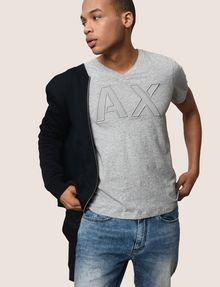 ARMANI EXCHANGE MESH LOGO V-NECK TEE Logo T-shirt Man a