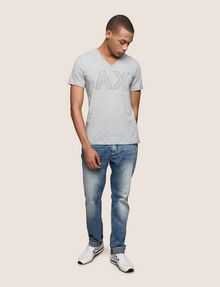 ARMANI EXCHANGE MESH LOGO V-NECK TEE Logo T-shirt Man d