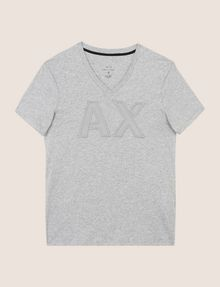 ARMANI EXCHANGE MESH LOGO V-NECK TEE Logo T-shirt Man r