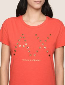 ARMANI EXCHANGE GROMMET DETAIL LOGO TEE Logo T-shirt Woman b