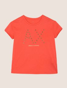 ARMANI EXCHANGE GROMMET DETAIL LOGO TEE Logo T-shirt Woman r