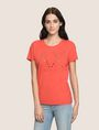 ARMANI EXCHANGE GROMMET DETAIL LOGO TEE Logo T-shirt Woman f