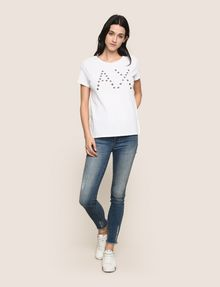 ARMANI EXCHANGE GROMMET DETAIL LOGO TEE Logo T-shirt Woman d