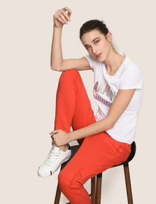 ARMANI EXCHANGE METALLIC ARC LOGO TEE Logo T-shirt Woman a