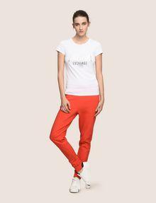 ARMANI EXCHANGE METALLIC ARC LOGO TEE Logo T-shirt Woman d