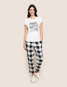 ARMANI EXCHANGE GLITTER WAVE LOGO TEE Logo T-shirt Woman d