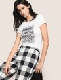 ARMANI EXCHANGE GLITTER WAVE LOGO TEE Logo T-shirt Woman a