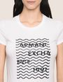 ARMANI EXCHANGE GLITTER WAVE LOGO TEE Logo T-shirt Woman b