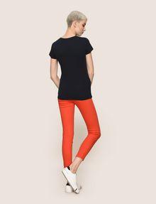 ARMANI EXCHANGE GLITTER WAVE LOGO TEE Logo T-shirt Woman e