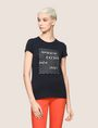 ARMANI EXCHANGE GLITTER WAVE LOGO TEE Logo T-shirt Woman f