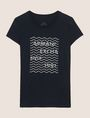 ARMANI EXCHANGE GLITTER WAVE LOGO TEE Logo T-shirt Woman r