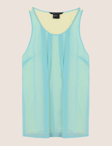 PLEATED SHEER OVERLAY TANK