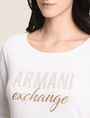 ARMANI EXCHANGE RHINESTONE MARQUEE SWEATER Crew Neck Woman b