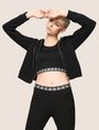 ARMANI EXCHANGE LOGO ELASTIC CROPPED TOP S/L Knit Top Woman a