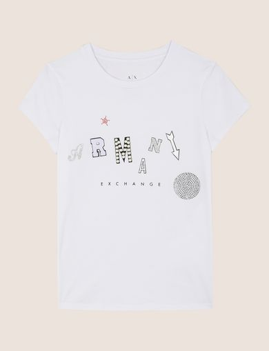MIXED FONT EMBELLISHED TEE