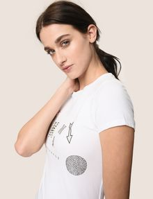 ARMANI EXCHANGE MIXED FONT EMBELLISHED TEE Logo T-shirt Woman a