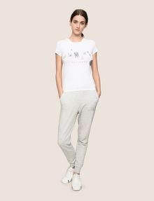 ARMANI EXCHANGE MIXED FONT EMBELLISHED TEE Logo T-shirt Woman d