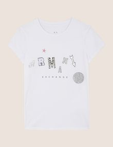 ARMANI EXCHANGE MIXED FONT EMBELLISHED TEE Logo T-shirt Woman r
