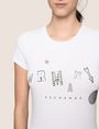 ARMANI EXCHANGE MIXED FONT EMBELLISHED TEE Logo T-shirt Woman b