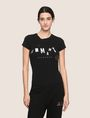 ARMANI EXCHANGE MIXED FONT EMBELLISHED TEE Logo T-shirt Woman f