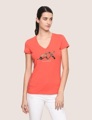 ARMANI EXCHANGE Camiseta con logotipo Mujer F