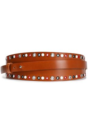 ISABEL MARANT Daria embellished leather waist belt