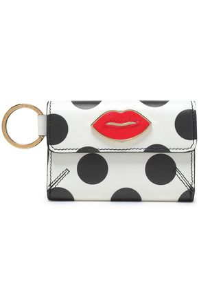 CHARLOTTE OLYMPIA Appliquéd printed leather key wallet