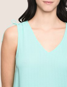 ARMANI EXCHANGE TIE-SLEEVE MESH TANK S/L Woven Top Woman b