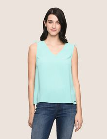 ARMANI EXCHANGE TIE-SLEEVE MESH TANK S/L Woven Top Woman f