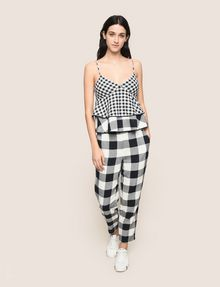ARMANI EXCHANGE Checked Top Woman d
