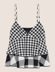 ARMANI EXCHANGE Checked Top Woman r