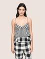ARMANI EXCHANGE Checked Top Woman f