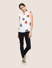 ARMANI EXCHANGE POP-ART FLORAL BLOUSE S/L Woven Top Woman d