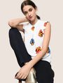 ARMANI EXCHANGE POP-ART FLORAL BLOUSE S/L Woven Top Woman a