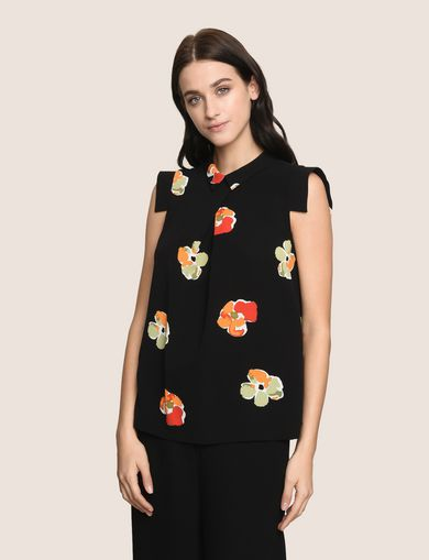 POP-ART FLORAL BLOUSE