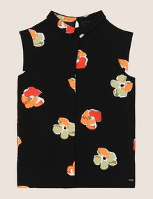 ARMANI EXCHANGE POP-ART FLORAL BLOUSE S/L Woven Top Woman r