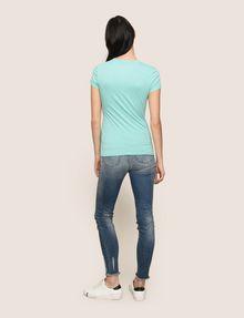 ARMANI EXCHANGE TONAL GLITTER BLOCK TEE Logo T-shirt Woman e
