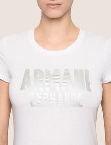 ARMANI EXCHANGE TONAL GLITTER BLOCK TEE Logo T-shirt Woman b