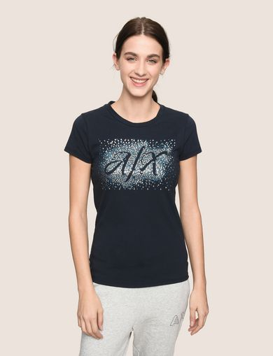 NEGATIVE SPACE SEQUIN SCRIPT TEE