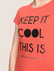 ARMANI EXCHANGE KEEP IT COOL THIS IS A|X TEE Non-logo Tee Woman b
