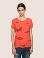 ARMANI EXCHANGE OH LA LA LIPS TEE Graphic T-shirt Woman f