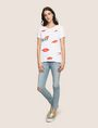 ARMANI EXCHANGE OH LA LA LIPS TEE Graphic T-shirt Woman d