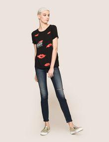 ARMANI EXCHANGE OH LA LA LIPS TEE Graphic T-shirt Woman d
