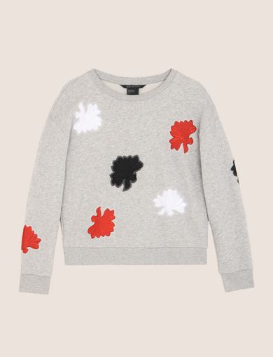 LOTUS APPLIQUE SWEATSHIRT TOP